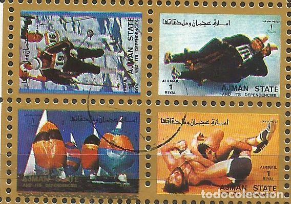 Sellos: AJMAN STATE - 1973 - BLOQUE DE 16 SELLOS DE LOS JUEGOS OLIMPICOS - SELLADO - Foto 5 - 237580750