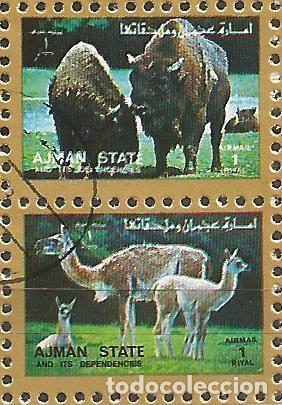 Sellos: AJMAN STATE - 1973 - 2 BLOQUES DE CADA 16 SELLOS DE ANIMALES SALVAJES - 1973 - SELLADO - Foto 13 - 237659515