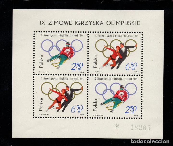POLONIA HB 38** - AÑO 1964 - JUEGOS OLIMPICOS DE INVIERNO DE INSBRUCK (Sellos - Temáticas - Olimpiadas)