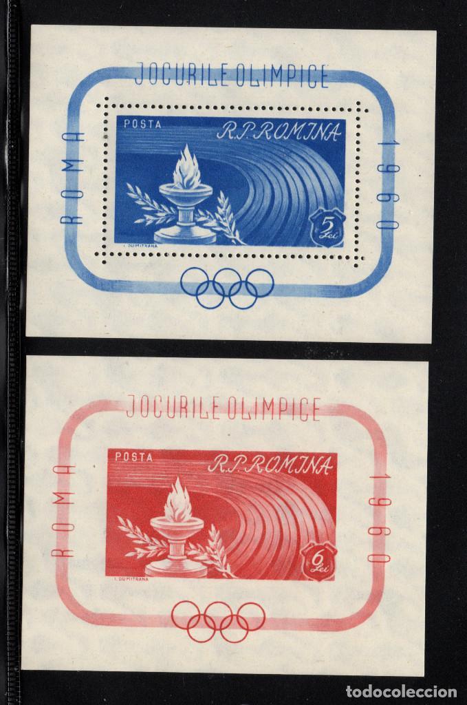 RUMANÍA HB 47/48** - AÑO 1960 - JUEGOS OLÍMPICOS DE ROMA (Sellos - Temáticas - Olimpiadas)