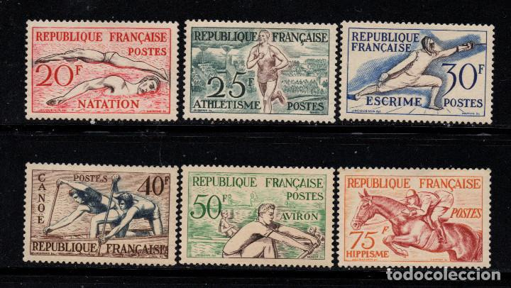 FRANCIA 960/65** - AÑO 1953 - JUEGOS OLÍMPICOS DE HELSINKI (Sellos - Temáticas - Olimpiadas)