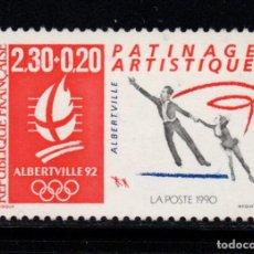 Timbres: FRANCIA 2633** - AÑO 1990 - ALBERTVILLE 92, JUEGOS OLÍMPICOS DE INVIERNO. Lote 238812310