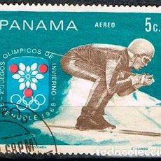 Sellos: PANAMA Nº 1124M JUEGOS OLIMPICOS DE GRENOBLE, USADO. Lote 239467220