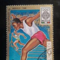 Sellos: BURUNDI - JJ.OO. MEXICO 1968 - USADO. Lote 239916265