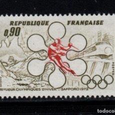 Timbres: FRANCIA 1705** - AÑO 1972 - JUEGOS OLÍMPICOS DE INVIERNO, SAPPORO. Lote 240661565