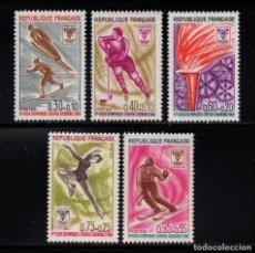 Timbres: FRANCIA 1543/47** - AÑO 1968 - JUEGOS OLÍMPICOS DE INVIERNO, GRENOBLE. Lote 241743320