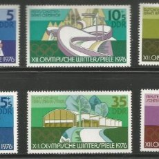Sellos: ALEMANIA ORIENTAL - SERIE COMPLETA DE JUEGOS OLÍMPICOS DE INVIERNO 1976 - NUEVOS CON GOMA. Lote 243302915