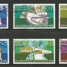 Sellos: ALEMANIA ORIENTAL - SERIE COMPLETA DE JUEGOS OLÍMPICOS DE INVIERNO 1976 - SELLADOS, NUEVOS CON GOMA. Lote 243303290