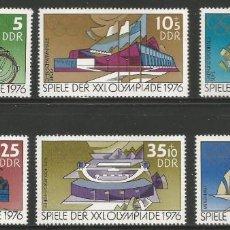 Sellos: ALEMANIA ORIENTAL - SERIE COMPLETA DE JUEGOS OLÍMPICOS DE VERANO 1976 - NUEVOS CON GOMA ORIGINAL. Lote 243303555