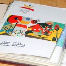 Sellos: BARCELONA 92-8 EMISIONES SERIES PREOLIMPICAS:LITOGRAFIAS+PRUEBAS ARTISTA NUMERADAS+SELLOS Y TARJETAS. Lote 243507480