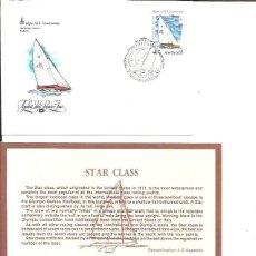 Sellos: FDC EMISION OFICIAL XXII OLIMPIADA MOSCU 1980 STAR CLASS. Lote 243758335