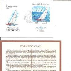 Sellos: FDC EMISION OFICIAL XXII OLIMPIADA MOSCU 1980 TORNADO CLASS. Lote 243758390