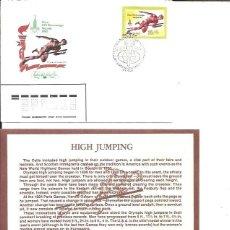 Sellos: FDC EMISION OFICIAL XXII OLIMPIADA MOSCU 1980 HIGJ JUMPING. Lote 243758430