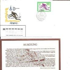 Sellos: FDC EMISION OFICIAL XXII OLIMPIADA MOSCU 1980 HURDLING. Lote 243758450