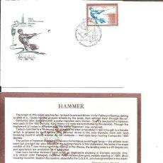 Sellos: FDC EMISION OFICIAL XXII OLIMPIADA MOSCU 1980 HAMMER. Lote 243758670