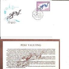 Sellos: FDC EMISION OFICIAL XXII OLIMPIADA MOSCU 1980 POLE VAULTING. Lote 243758725