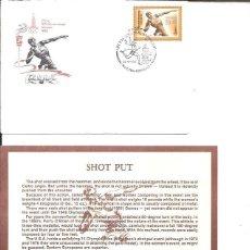Sellos: FDC EMISION OFICIAL XXII OLIMPIADA MOSCU 1980 SHOT PUT. Lote 243758810