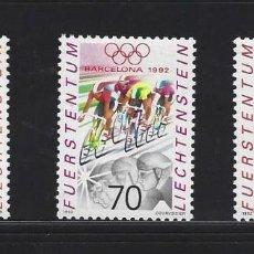 Sellos: LIECHTENSTEIN 1992 976/78 BARCELONA 92 OLIMPIADAS 3V.. Lote 243882815
