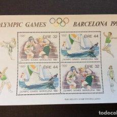 Sellos: IRLANDA Nº YVERT HB 11*** AÑO 1992. JUEGOS OLIMPICOS DE BARCELONA. Lote 243901430