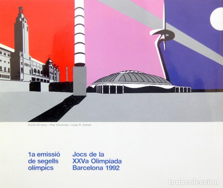 Sellos: Barcelona 92-3 Emisiones SERIES Olimpicas: LITOGRAFIAS + Pruebas Artista Numeradas+SELLOS y TARJETAS - Foto 2 - 243507490