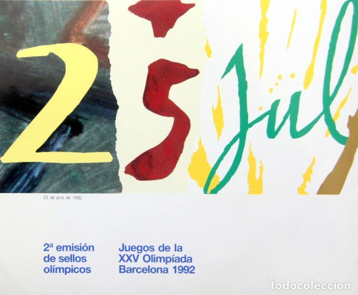 Sellos: Barcelona 92-3 Emisiones SERIES Olimpicas: LITOGRAFIAS + Pruebas Artista Numeradas+SELLOS y TARJETAS - Foto 3 - 243507490