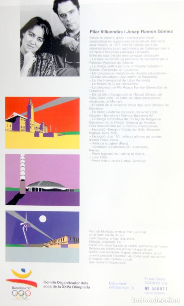 Sellos: Barcelona 92-3 Emisiones SERIES Olimpicas: LITOGRAFIAS + Pruebas Artista Numeradas+SELLOS y TARJETAS - Foto 5 - 243507490
