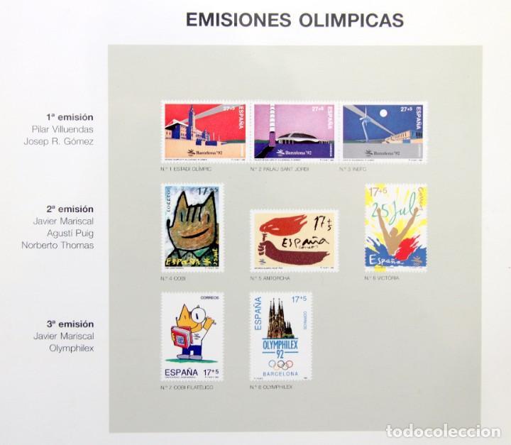 Sellos: Barcelona 92-3 Emisiones SERIES Olimpicas: LITOGRAFIAS + Pruebas Artista Numeradas+SELLOS y TARJETAS - Foto 7 - 243507490