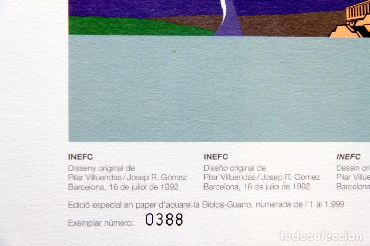 Sellos: Barcelona 92-3 Emisiones SERIES Olimpicas: LITOGRAFIAS + Pruebas Artista Numeradas+SELLOS y TARJETAS - Foto 10 - 243507490