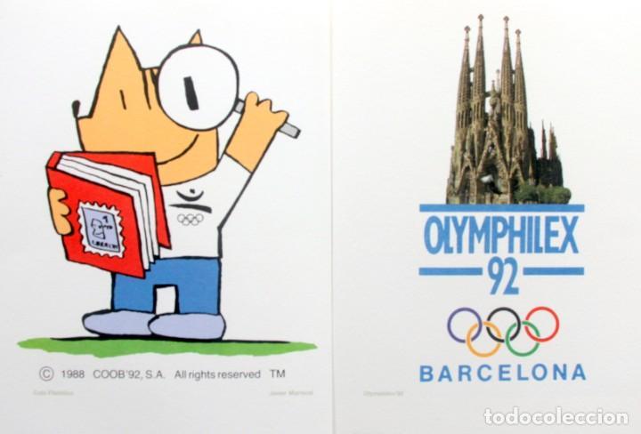 Sellos: Barcelona 92-3 Emisiones SERIES Olimpicas: LITOGRAFIAS + Pruebas Artista Numeradas+SELLOS y TARJETAS - Foto 14 - 243507490