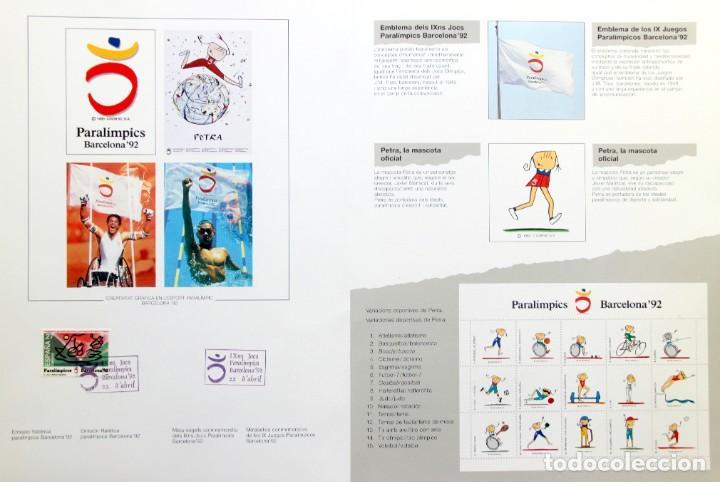 Sellos: Barcelona 92-SERIE Paralimpica: LITOGRAFIAS + Pruebas Artista Numeradas RAFOLS CASAMADA - Foto 4 - 243507505