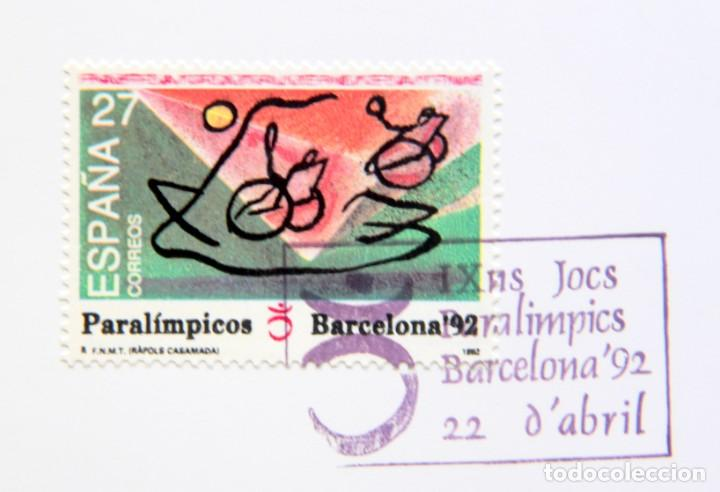 Sellos: Barcelona 92-SERIE Paralimpica: LITOGRAFIAS + Pruebas Artista Numeradas RAFOLS CASAMADA - Foto 5 - 243507505
