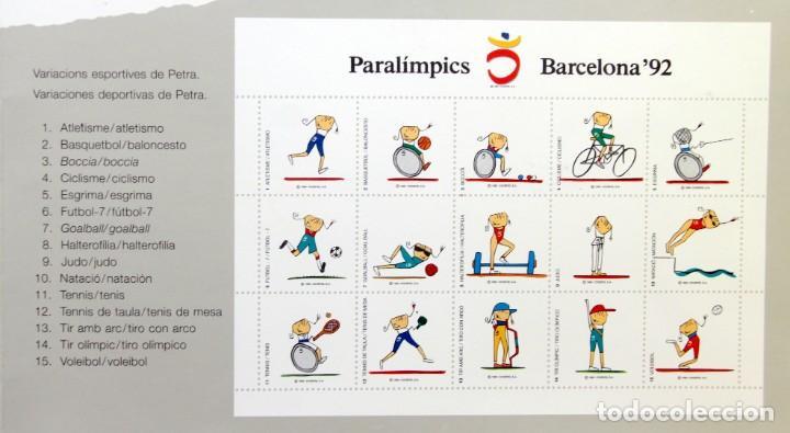 Sellos: Barcelona 92-SERIE Paralimpica: LITOGRAFIAS + Pruebas Artista Numeradas RAFOLS CASAMADA - Foto 7 - 243507505