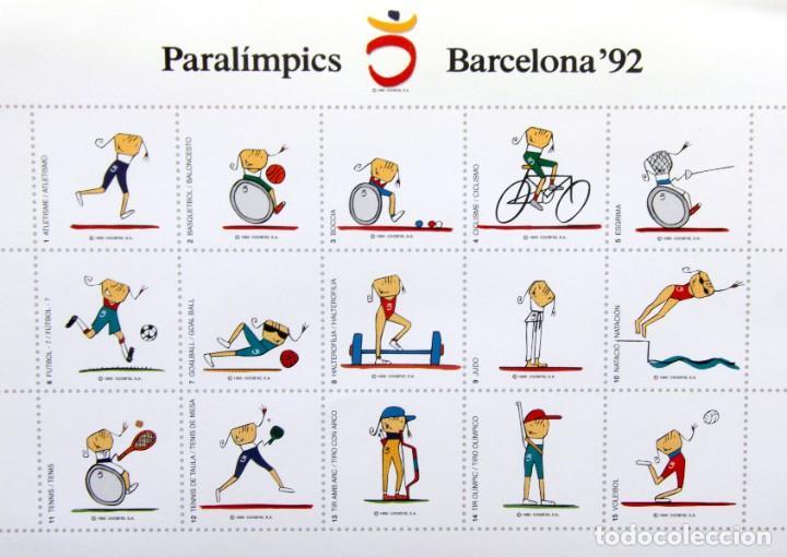Sellos: Barcelona 92-SERIE Paralimpica: LITOGRAFIAS + Pruebas Artista Numeradas RAFOLS CASAMADA - Foto 8 - 243507505