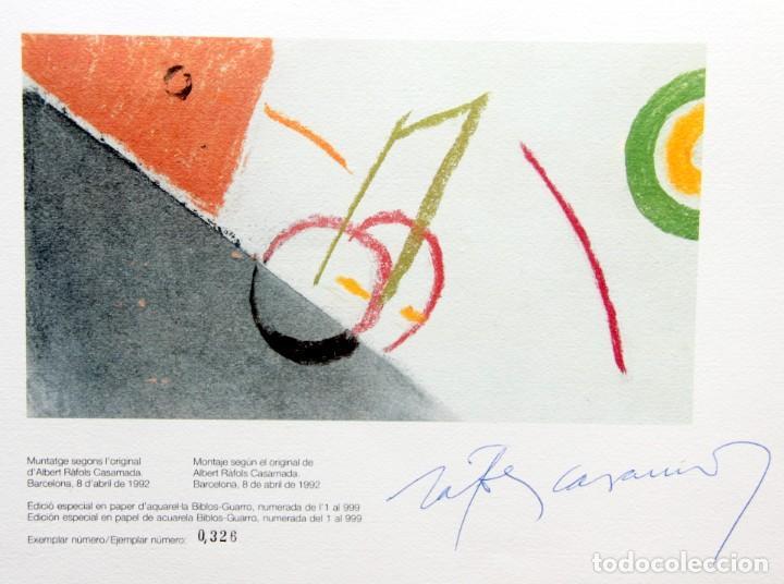 Sellos: Barcelona 92-SERIE Paralimpica: LITOGRAFIAS + Pruebas Artista Numeradas RAFOLS CASAMADA - Foto 13 - 243507505