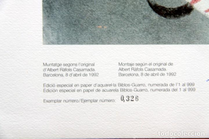 Sellos: Barcelona 92-SERIE Paralimpica: LITOGRAFIAS + Pruebas Artista Numeradas RAFOLS CASAMADA - Foto 14 - 243507505