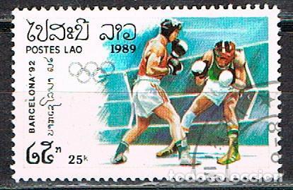 LAOS Nº 916, BOXEO, JUEGOS OLIMPICOS DE BARCELONA 92, USADO (Sellos - Temáticas - Olimpiadas)