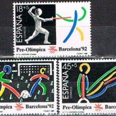 Sellos: EDIFIL Nº 3025/7, 3ª SERIE PREOLIMPICA, JUEGOS OLIMPICOS DE BARCELONA 92,JUDO, NUEVO, SERIE COMPLETA. Lote 245945320