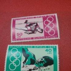 Sellos: SELLO ALEMANIA R. FEDERAL NUEVO/1976/JUEGOS/OLIMPIADAS/MONTREAL/CANADA/NATACION/SALTO/DEPORTE/ATLETA. Lote 246080465