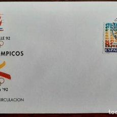 Sellos: MATASELLOS PRIMER DÍA. ESPAÑA 1992. PAÍSES OLÍMPICOS ALBERVILLE'92. Lote 246093955