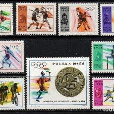 Timbres: POLONIA 1705/13** - AÑO 1968 - JUEGOS OLIMPICOS DE MEXICO. Lote 251014615