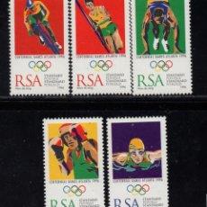 Timbres: SUDAFRICA 907/11** - AÑO 1996 - CENTENARIO DE LOS JUEGOS OLIMPICOS MODERNOS. Lote 252126665