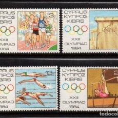 Sellos: CHIPRE 608/11** - AÑO 1984 - JUEGOS OLIMPICOS DE LOS ANGELES. Lote 253727095