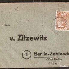 Sellos: ALEMANIA BERLIN. 1952. YT 74. BERLIN-ZEHLENDORF. Lote 257268250