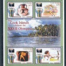 Sellos: COOK 2000 IVERT 1185/8 *** JUEGOS OLÍMPICOS DE SIDNEY - DEPORTES. Lote 257830540