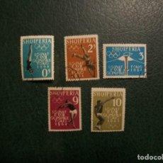 Francobolli: /16.05/-LIQUIDACION-ALBANIA-1962-SERIE COMPLETA EN USADO/º/-J.O.TOKIO'62. Lote 263181490