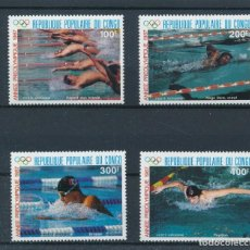 Sellos: CONGO 1987 AÉREO IVERT 367/70 *** JUEGOS OLÍMPICOS DE SEÚL - DEPORTES. Lote 265489429