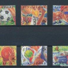 Sellos: SINGAPUR 1992 IVERT 631/6 *** JUEGOS OLÍMPICOS DE BARCELONA - DEPORTAS. Lote 265497779