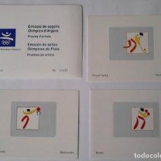 Sellos: PRUEBAS ARTISTA COOB 92 EMISION SELLOS PREOLIMPICOS, OLIMPICOS, PLATA BARCELONA 92. VER DESCRIPCION. Lote 265792844