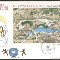 Sellos: ALEMANIA FEDERAL. FDC. SPIELE. OLIMPIADA MÜNCHEN 1972. Lote 268738059
