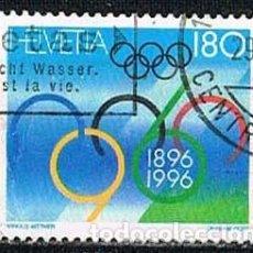 Sellos: SUIZA, IVERT 1511, CENTENARIO DE LOD JUEGOS OLIMPICOS, USADO. Lote 269144043
